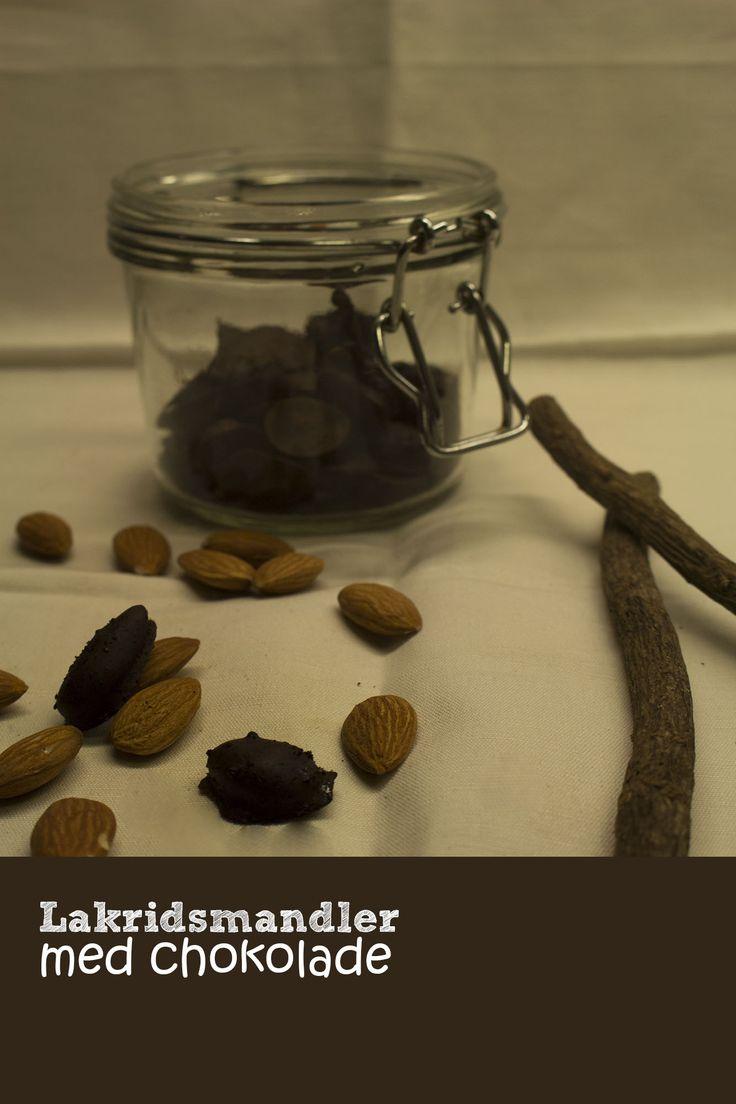 Lakridsmandler med chokolade