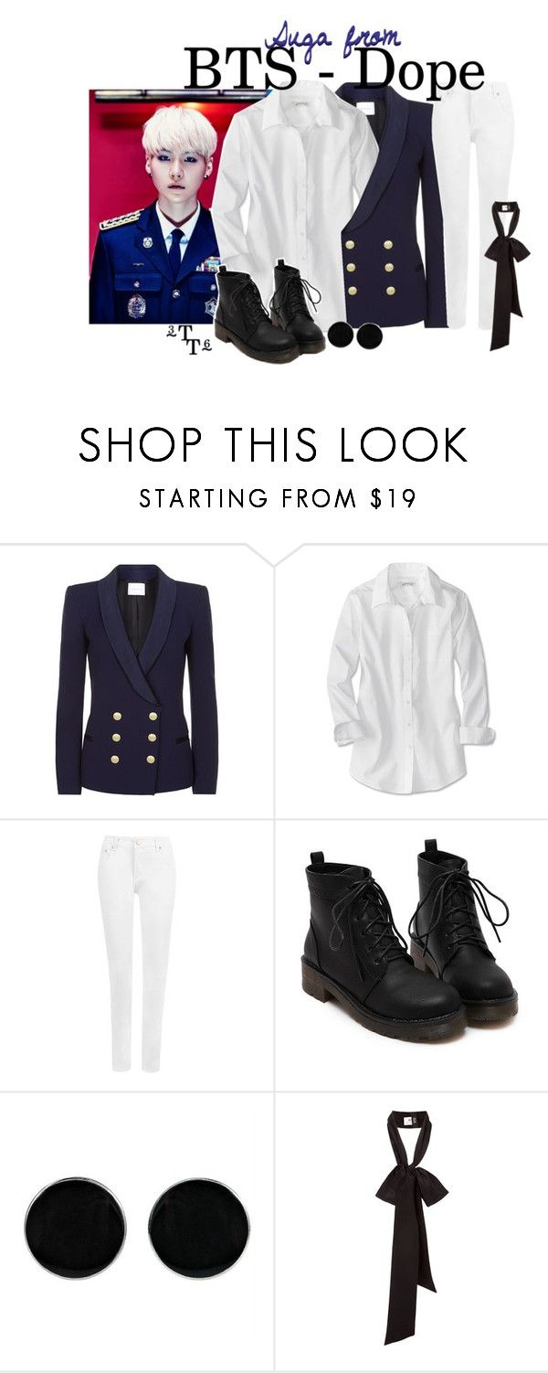 """BTS(방탄소년단) - DOPE(쩔어) (PART 2, Suga)"" by triple-threat36 ❤ liked on Polyvore featuring Pierre Balmain, WearAll and AeraVida"
