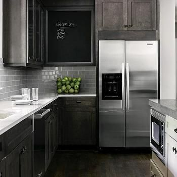Best Dark Distressed Kitchen Cabinets Home Kitchens 400 x 300