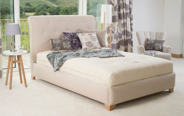 Appledore natural mattress by Cottonsafe Natural Mattress, a Devon company that uses no FR chemicals or adhesive glues. From £569 to £1,354