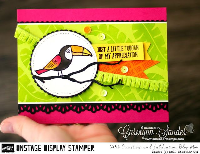 Care Bear Stamps: Stampin ' Up! 2018 Occasions & Sale-A-Bration Display Stamper Blog Hop ~ Day Two