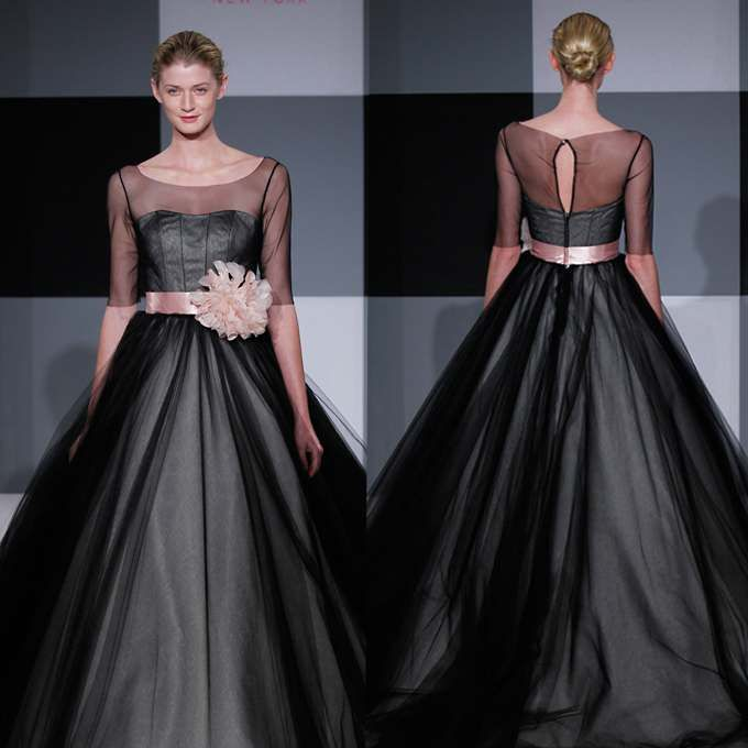 Love this black wedding dress.