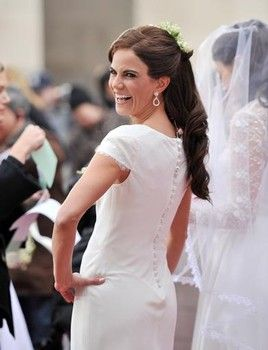 Today host Natalie Morales as Pippa Middleton on the set of NBC show Today 2011 Halloween Celebration at Rockefeller Plaza on October 31, 20...