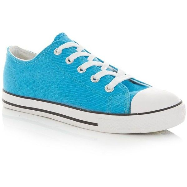 Turquoise Lace Up Trainers (6.82 CAD) found on Polyvore featuring women's fashion, shoes, sneakers, converse, 18. converse., turquoise, cap toe shoes, white sneakers, bright sneakers and lacing sneakers