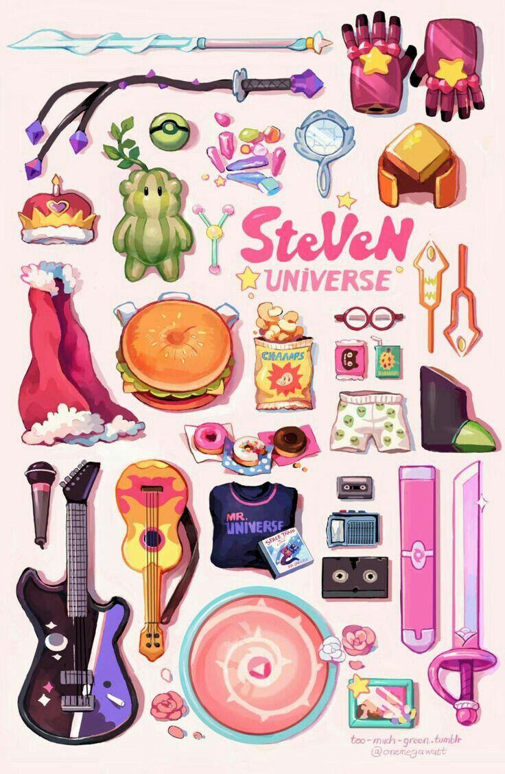 Objetos Exclusivos De Steven Universe Papel De Parede Wallpaper