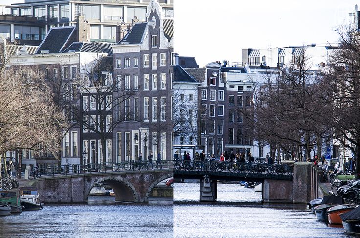 I took a picture on the first bridge of the bridge on the other side. Then I went to that bridge and took a picture of the bridge I took the first picture on. Then afterwards I went on my computer and took the pictures of both bridges and put it together to get one bridge! So do you get it? BRIDGE  - Amsterdam