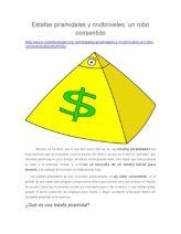 Estafas Piramidales y Multiniveles
