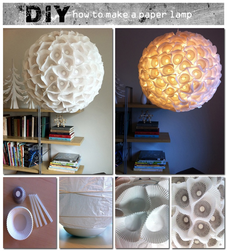 how to make a paper lamp