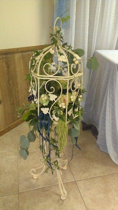 Wedding shower table decor #birdcage #centerpiece #wedding shower