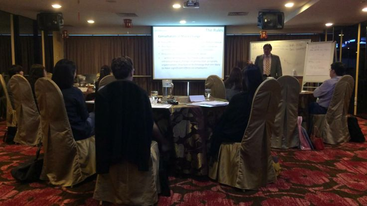 Trainer Hugh McPherson elaborating about the major changes in HRLAW...