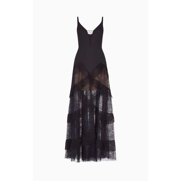 Bcbg Maxazria Avaline Pleated Black Gown ($400) ❤ liked on Polyvore ...