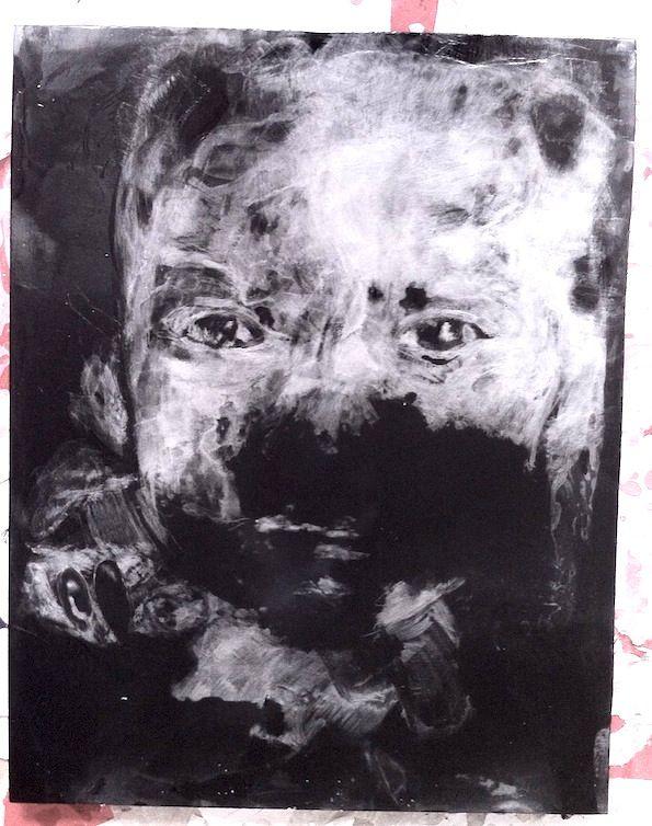 peinture à la paraffine sur bois noir. Réalisation Isabelle Bonté-Hessed2
