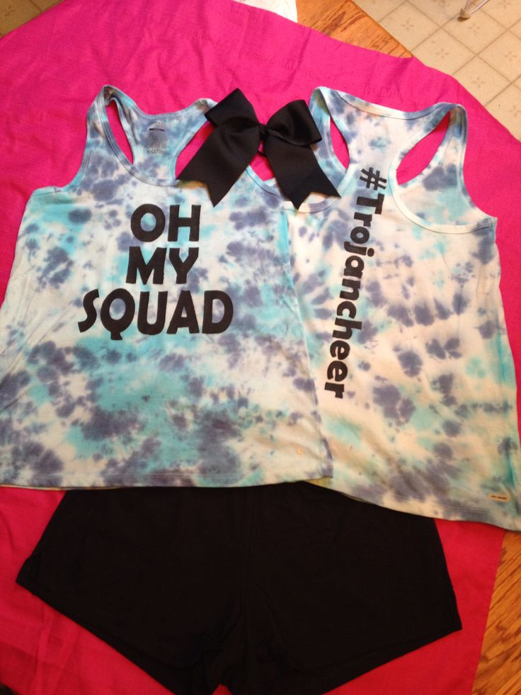 Cheer camp outfit. I did the shirt myself. #Trojancheer