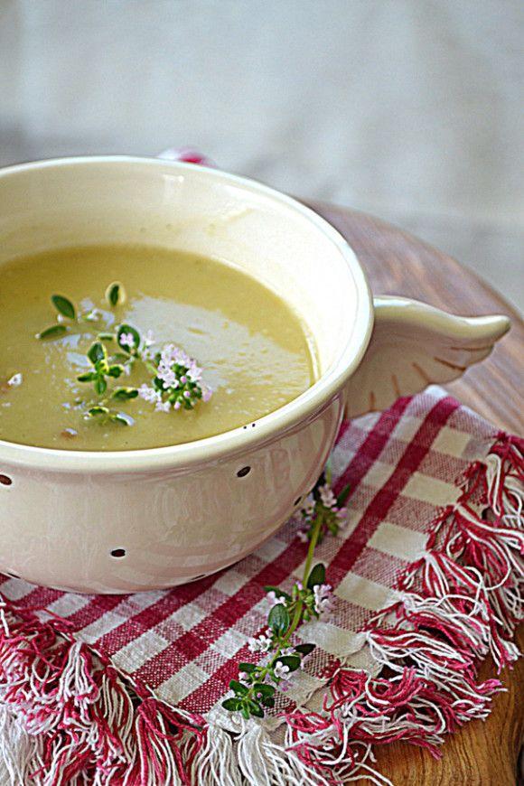 Zupa z pieczonym topinamburem i chrzanem #GRYZ #MagazynGRYZ