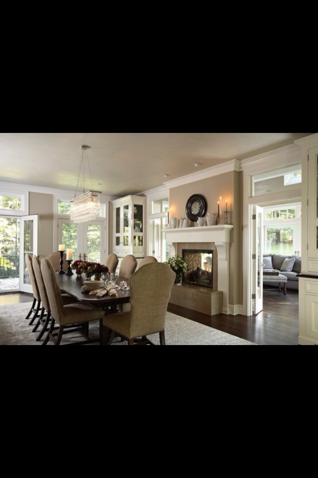 9 best images about formal dining room design on pinterest for Traditional dining room fireplace