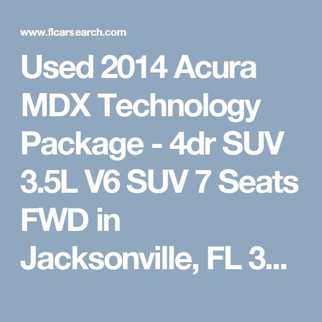 Used 2014 Acura MDX Technology Package