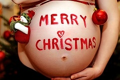 Haha could make this into an ornament and forever remember being 8 mos pregnant for Christmas 2013!