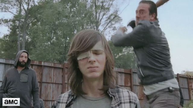 shiva tiger attacks walking dead gif   The Walking Dead' tiger is a lot funnier when you know it's just a ...