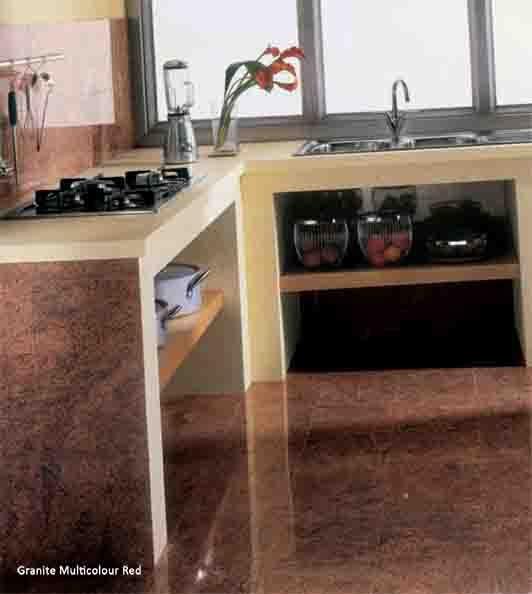 #Granite #Tiles Multicolour Red #Kitchen #UnionTiles www.uniontiles.co.za