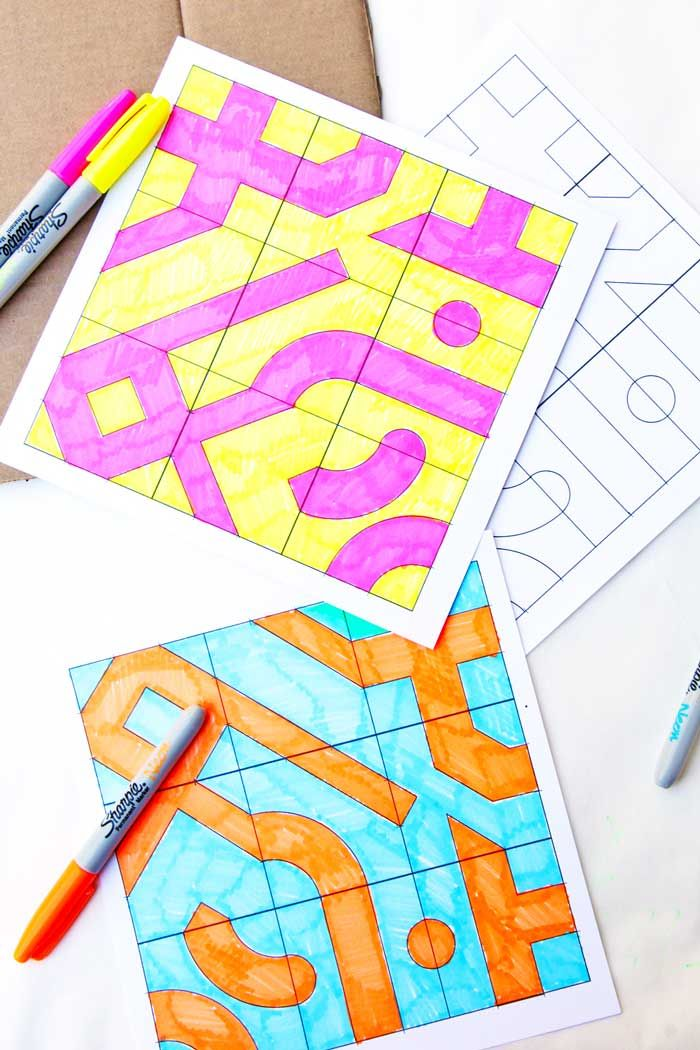 Math Game Idea: Infinity Tiles. No matter how you rotate them, the design always connects! Download our pre-designed or blank template and make your own set.