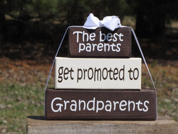 Mother 39 s day pregnancy announcement wood block stack the for What to get grandma for mother s day