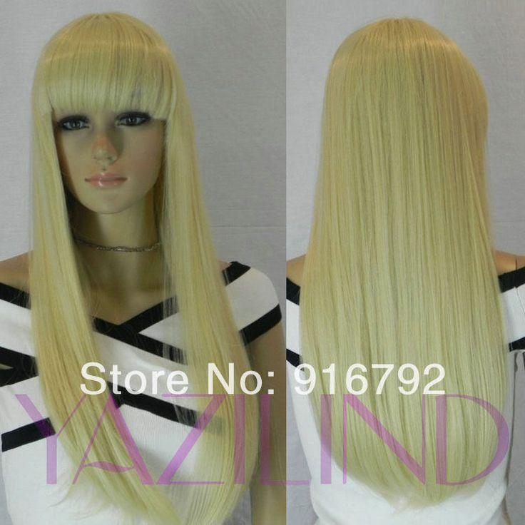 Бесплатная доставка > женщины длинные прямые светло-русый карнавальные костюмы парики косплей парик волос новинка