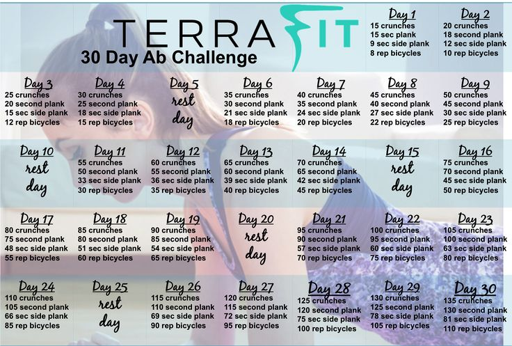 Tighten and tone your core with the TERRAfit 30 Day Ab Challenge!terrafit.com/joinme/heather-robinson