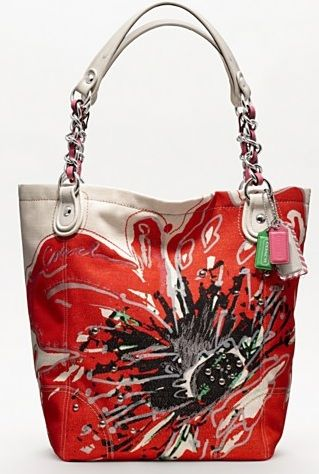 coach poppy handbags outlet 9t1e  Coach-Poppy-Placed-Flower-Large-Tote