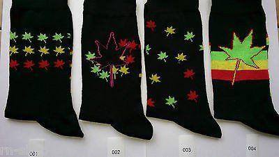 Weed Socks Marijuana Cannabis Leafs Leaves Unisex Adult fit 6-12