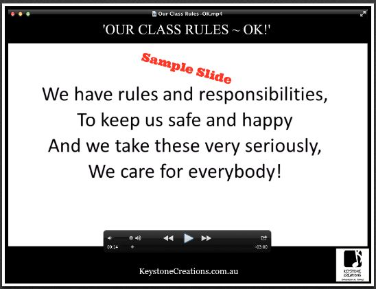 CURRICULUM KARAOKE™ ~ MP4 curriculum-aligned song video that integrates learning across key subject areas. There's 'A Lesson in Every Lyric'® *Details: https://www.teacherspayteachers.com/Product/OUR-CLASS-RULES-OK-Curriculum-Karaoke-MP4-Song-lyrics-video-3224972
