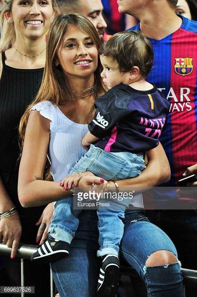 Celebrities Attend Barcelona v Alaves - Copa del Rey Final