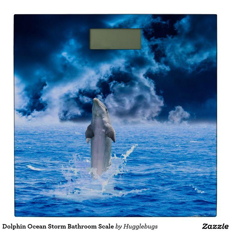 Dolphin Ocean Storm Bathroom Scale