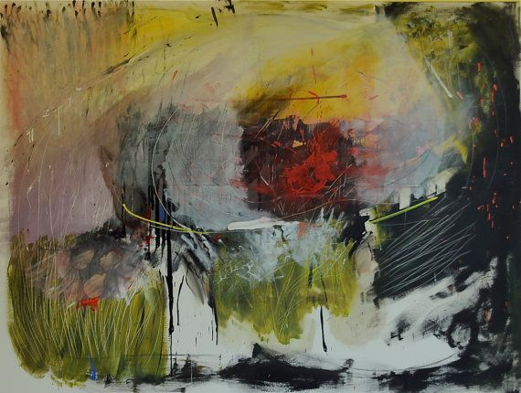 60 x 84 x 1,5 -Peint avec une peinture acrylique et recouverts dune couche de vernis protecteur UV  Une éclaboussure de couleur sur fond blanc avec beaucoup de mouvement