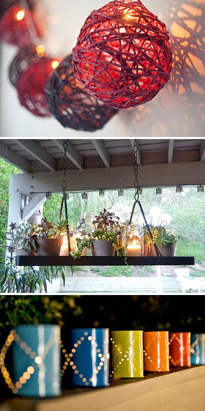 5 DIY Outdoor Mood Lighting Ideas I really like the colorful globes. They might be a fun project to work on