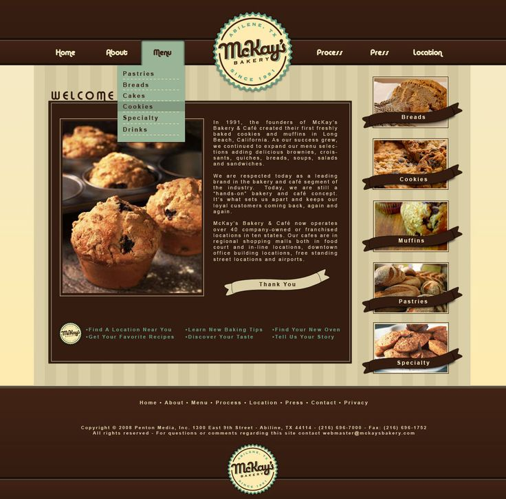 17 Best ideas about Bakery Website on Pinterest   Food website ...
