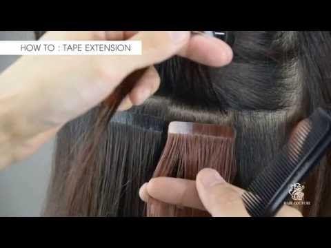 DIY Tape In Hair Extensions Tutorial - YouTube