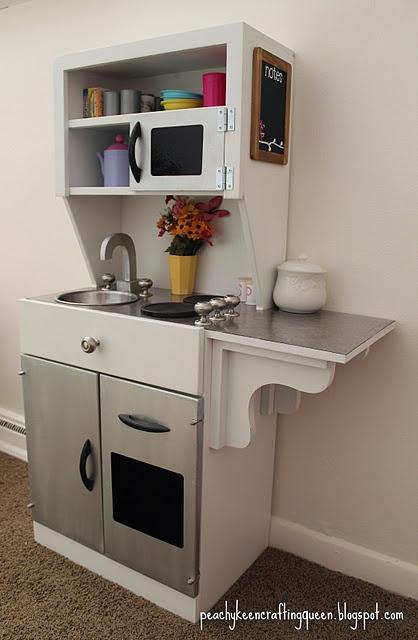 253 best play kitchen for my girls images on pinterest. Black Bedroom Furniture Sets. Home Design Ideas
