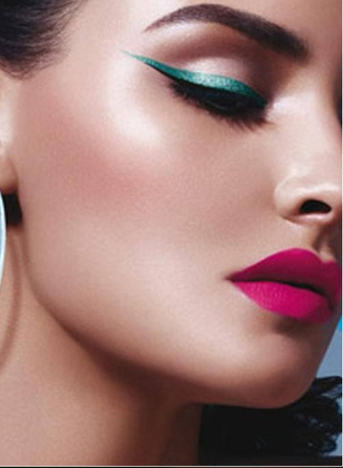 """Watch out spring 2014!! Teal liner and pink lip. Love Love Love the """"taste of the tropics"""" this season"""