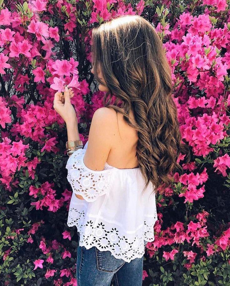 Красивые картинки девушек с цветами без лица