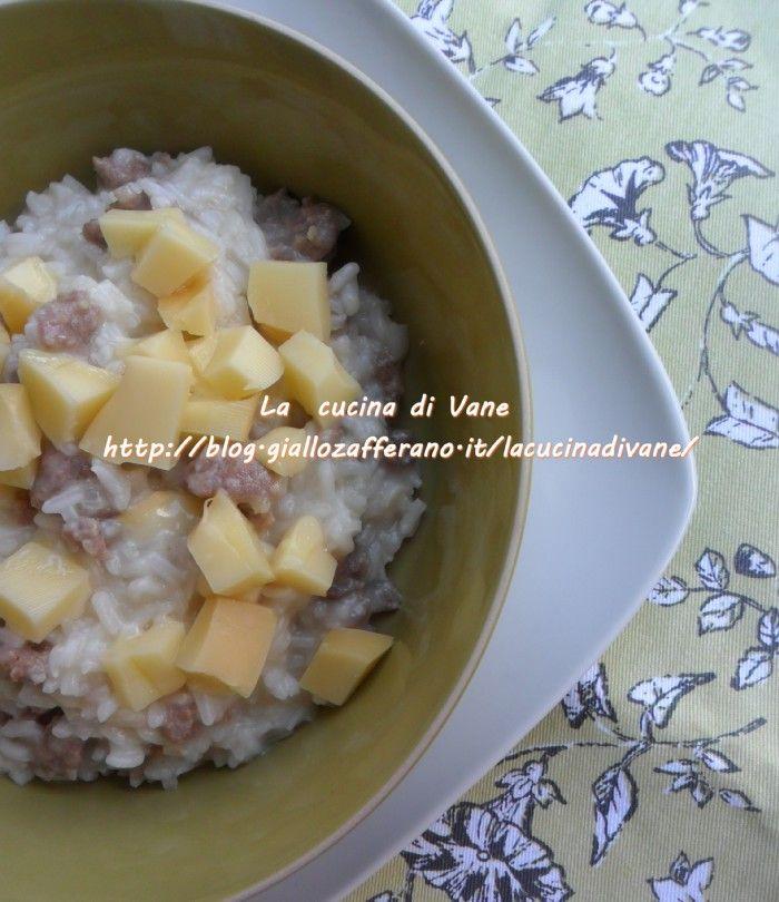 Ricetta risotto con salsiccia e scamorza