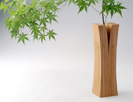 Split Wood Vase  Creative vases from the Laminated Bamboo