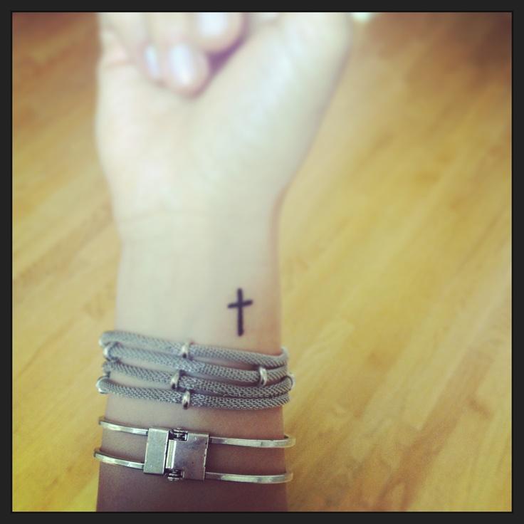 Cross tattoo on pulse    http://pinterest.com/ericaohare/