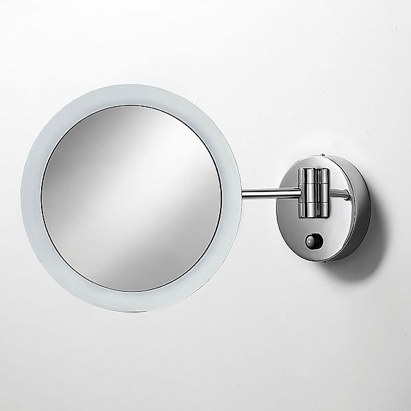 lineabeta mevedo polished chrome 3x ledlighted hardwired wallmount lighted makeup mirror