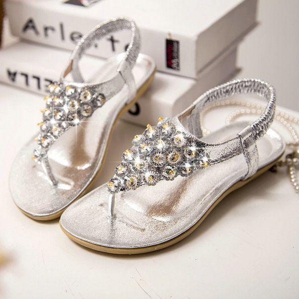 new model women rhinestone sandals 2014,flip flop sandal,latest design lady  shoes,