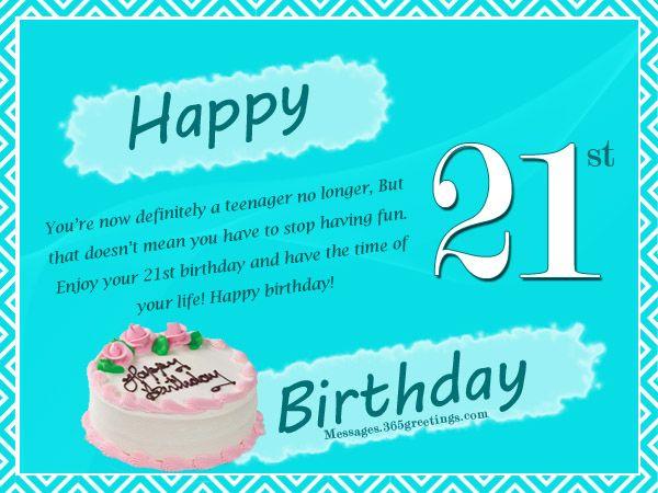 25 Best Ideas About 21 Birthday Wishes On Pinterest Happy 46 Birthday Wishes