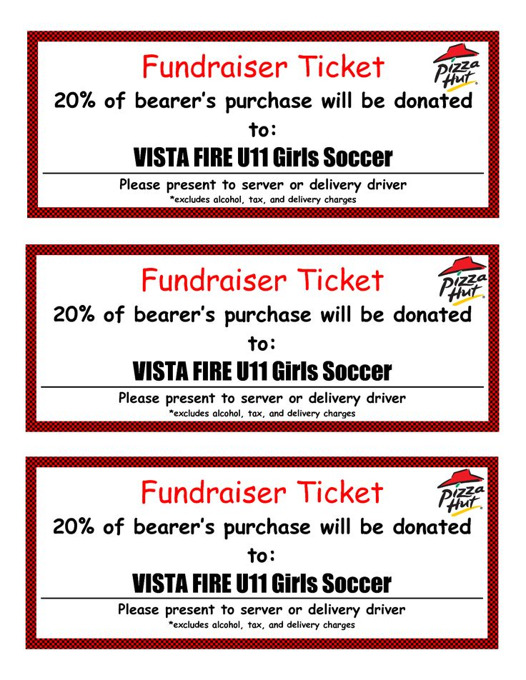 tickets for fundraiser template