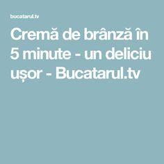 Cremă de brânză în 5 minute - un deliciu ușor - Bucatarul.tv