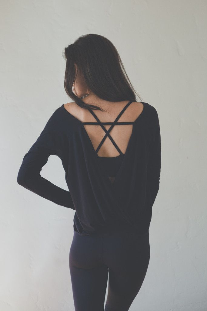 Hanley Long Sleeve in Black over the Ex Bra Perfect Combo!