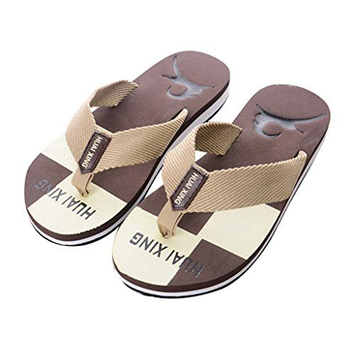 Sky Necessary For Summer Hombres Camuflaje Verano Flip Flops Zapatos Sandalias Zapatilla Interior y Exterior Flip-Flop (42, Azul)