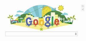 Google celebreaza, Campionatul Mondial de Fotbal 2014 cu un nou logo